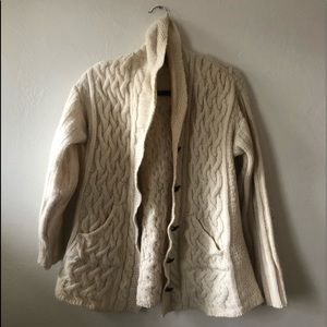 Wool Irish knit sweater cardigan size M